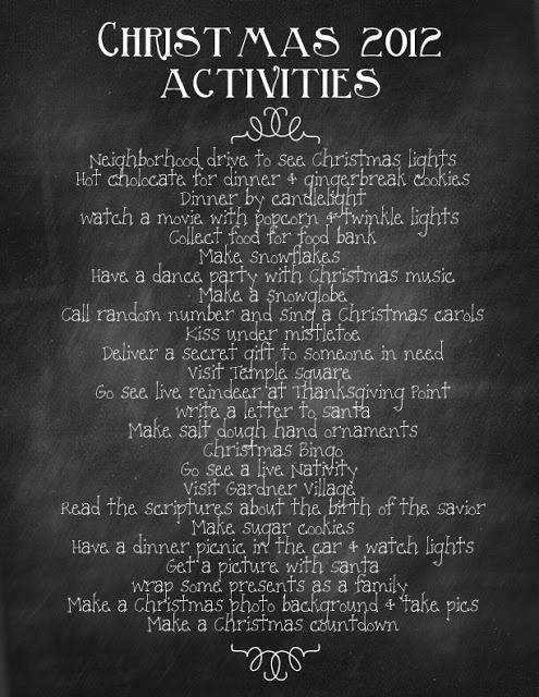 Aktivitäten zu Weihnachten